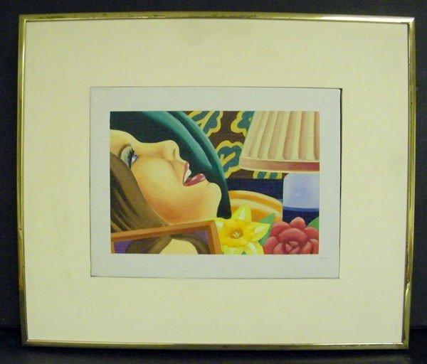 221: Tom Wesselmann, Oil/Canvas
