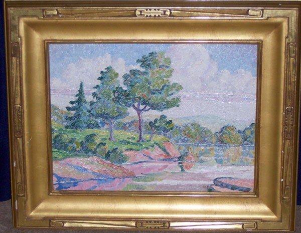 2: Birger Sandzen. Oil/Board; Landscape.