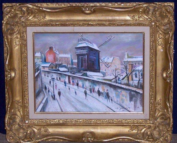 3: W. James. Pastel/Paper; French Scene.