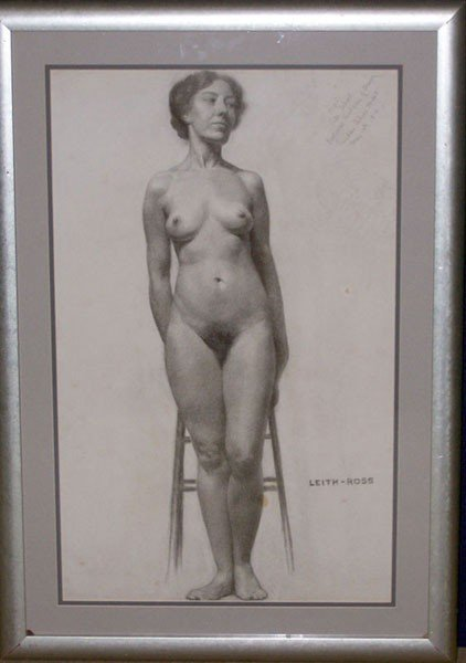 5: Leith-Ross, 1910. Charcoal/Paper; Nude.