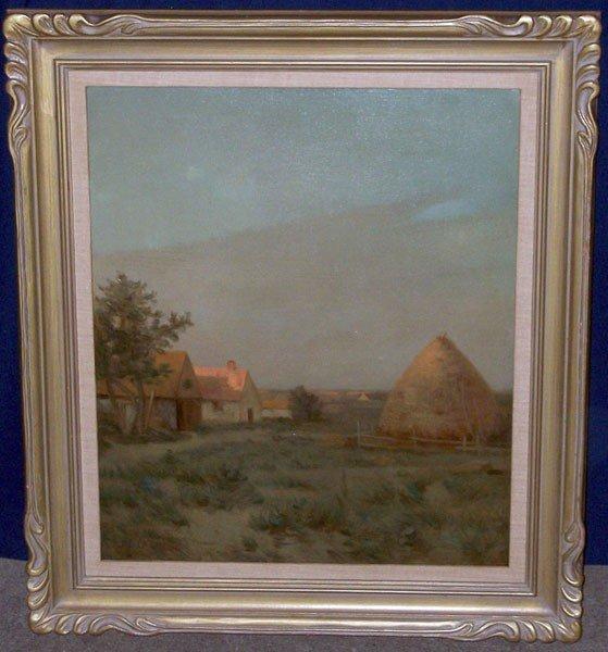 15: J.C. Cazin (Jean Charles Cazin). Oil/Panel; Landsca