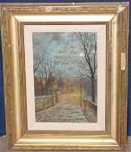 93: John Atkinson Grimshaw. Oil/Canvas; Street Scene.