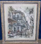 163: John Haymson . Oil/canvas; Street Scene.