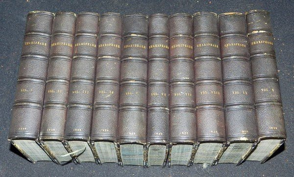 22: Ten Volumes of William Shakespeare