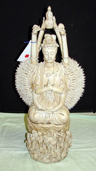 3: Chinese Ceramic of Seated Kuan Yin