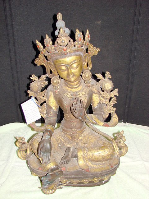 6: Bronze of Seated Green Tara