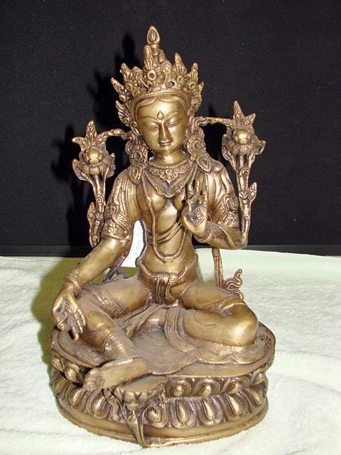 7: Gilded-Bronze of Seated Green Tara