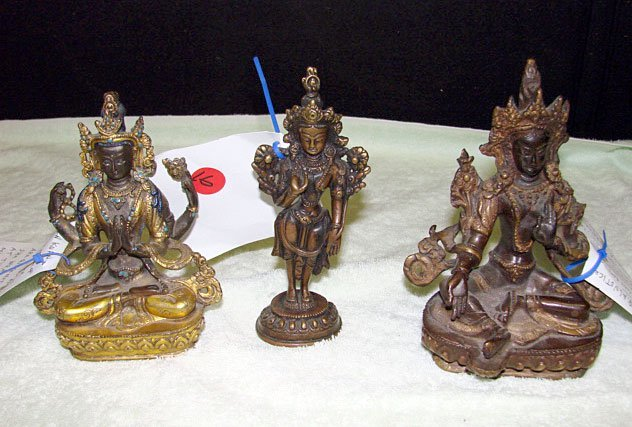16: Lot of 3 Tibetan Bronze Figures