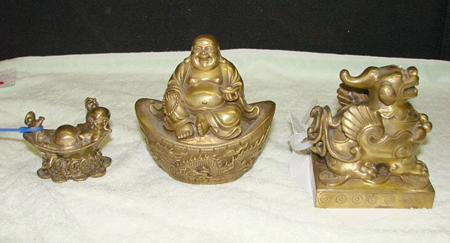 18: Lot of 3 Chinese Bronze Figures