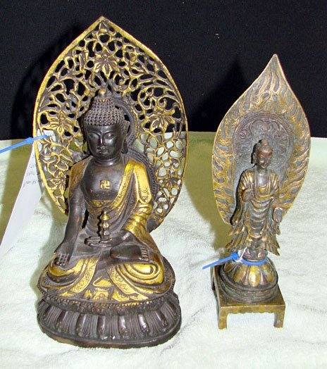 20: Lot of 2 Chinese Bronze Figures