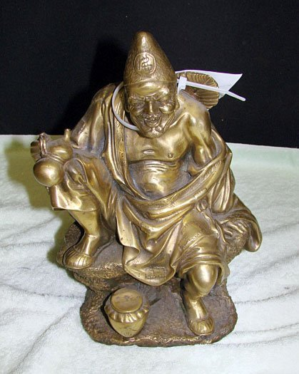 23: Bronze Figure of Seated Tsai Gung