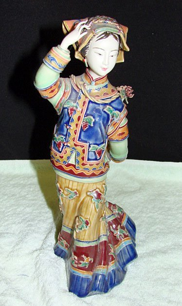 24: Chinese Ceramic Figure of Woman