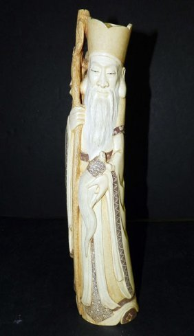 Antique Carved Ivory Tusk