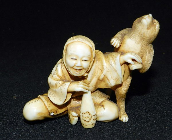 170: Antique Carved Ivory Figure