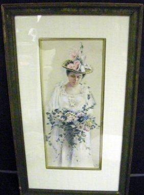 V.D. (Attrib. To Victoria Donahue), Watercolor
