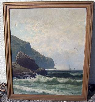 190: A. Bricher, Oil/Canvas
