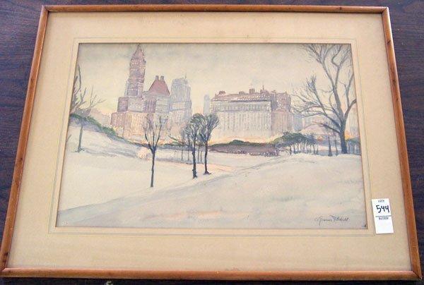 202: A. Graeme Mitchel, Watercolor