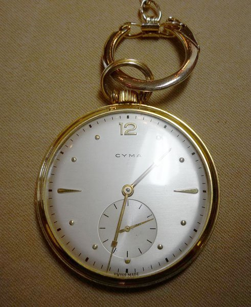 357: Man's Cyma Pocket Watch