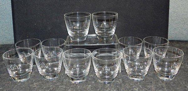 10: Twelve Steuben Glasses