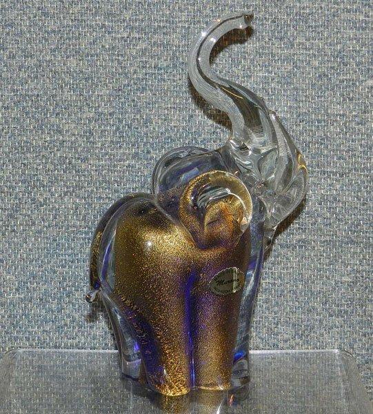 14: Murano Glass Elephant
