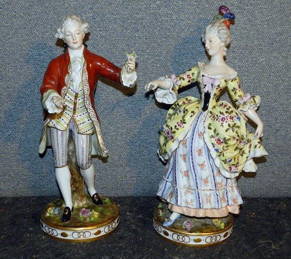 21: Pair of German Porcelain Figures