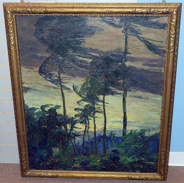 75: Jonas Lie, Oil on Canvas