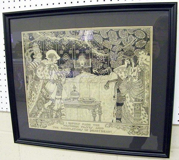 5: Unsigned Illustration for Edgar Allen Poe Story