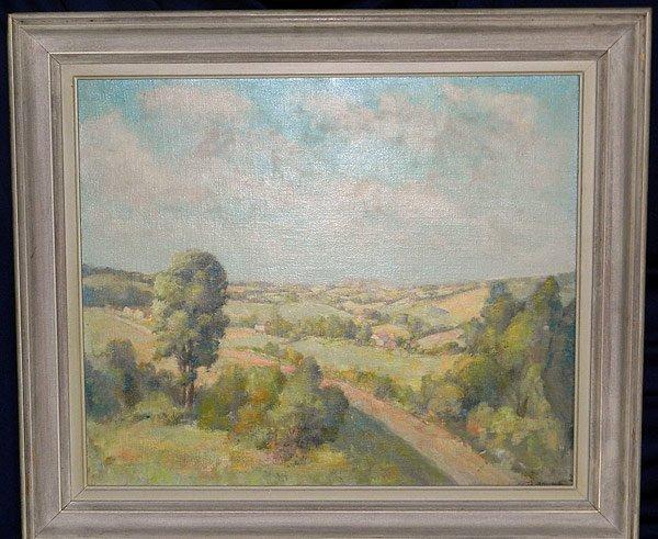 11: Unsigned, Oil/Canvas Landscape