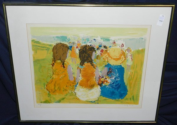 12: Signed/Illegible, Lithograph