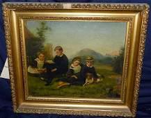 24: Unsigned, 19th C. Oil/Canvas, Genre Scene