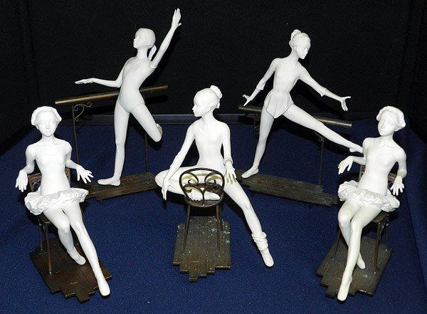 Lot of Five Boehm Ballerinas