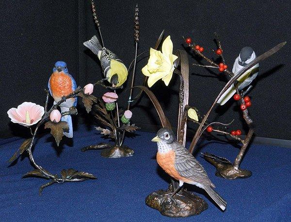 Lot of Four Boehm Birds