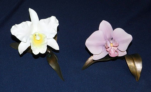 Lot of Two Boehm Orchids
