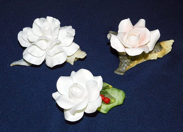 Lot of Three Miniature Boehm Flowers