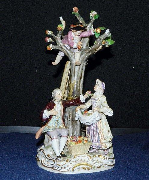 Meissen Apple Pickers Figurine