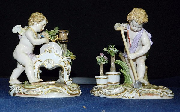 Lot of Two Meissen Figurines