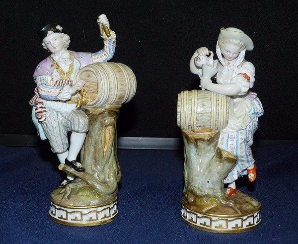 Pair of Meissen Figurines