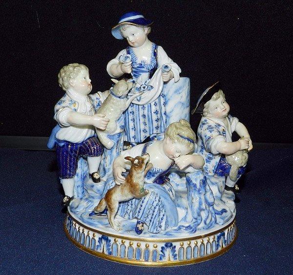 Meissen Children/Animals Figurine