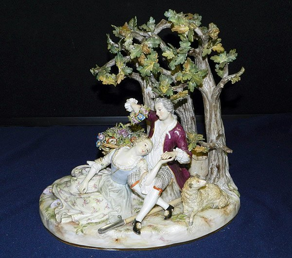 Meissen Shepherd/Shepherdess Figurine