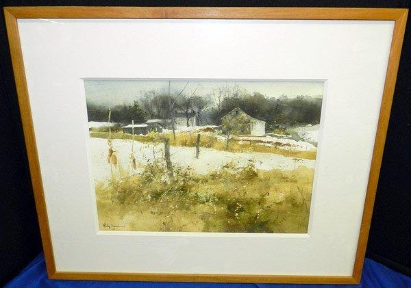 Philip Jamison. Watercolor, Landscape