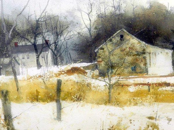 Philip Jamison. Watercolor, Landscape - 3