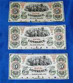 Lot of 3 Obsolete Five Dollar Notes