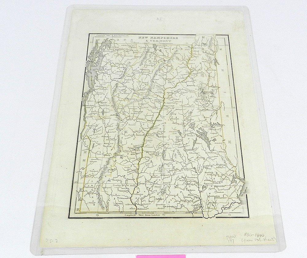 Three 19th C. Maps of New England States