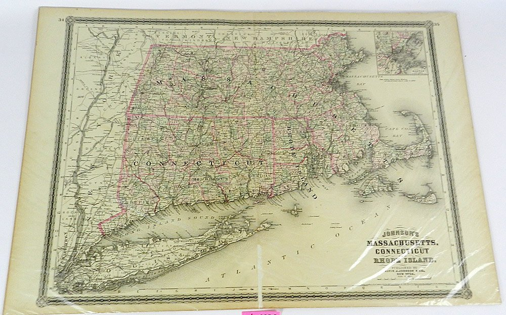 Two 19th C. Maps of U.S. States