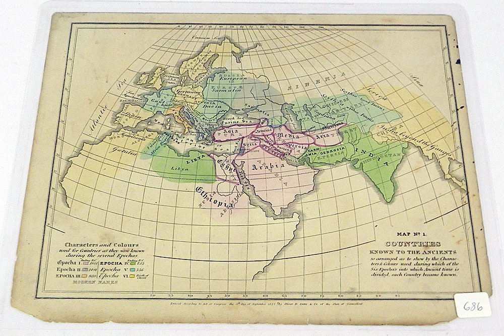 Two 1827 Maps of the Ancient World