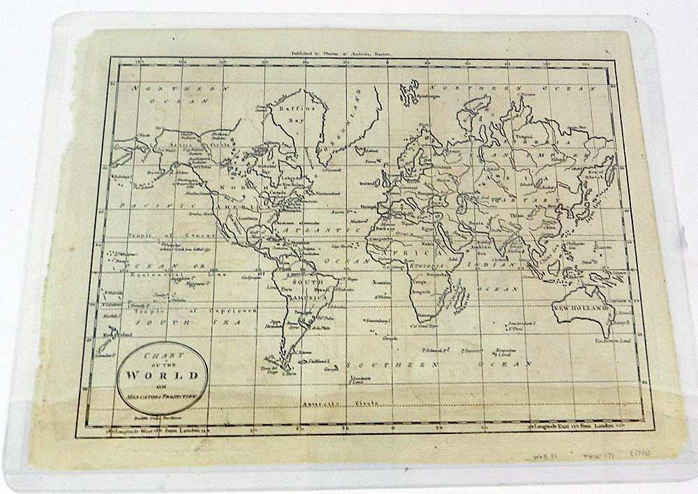 Four 19th C. Maps of the World