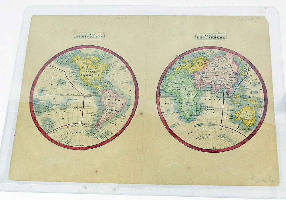 Four 19th C. Maps of the World - 2