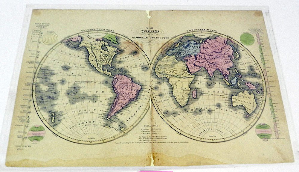 Four 19th C. Maps of the World - 3