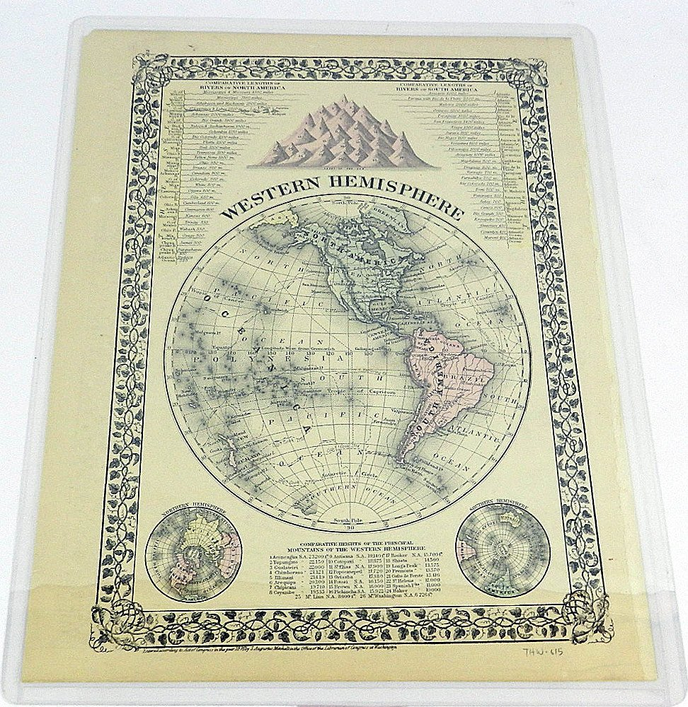 Four 19th C. Maps of the World - 4