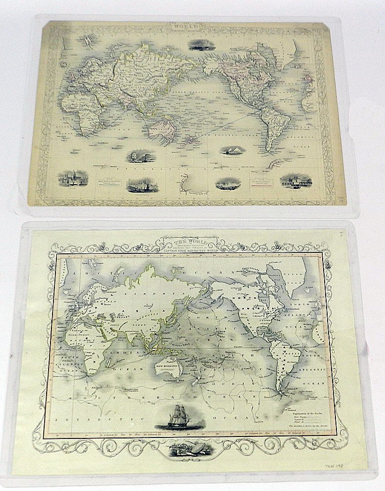 Two 19th C. Maps of the World